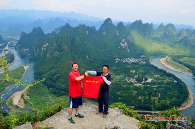 Client Visiting Laozhai Mountain, Xingping, Yangshuo in 2017