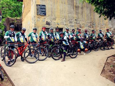 Robert and Clients from Brazil Cycling to Yangshuo Old Village in 2017
