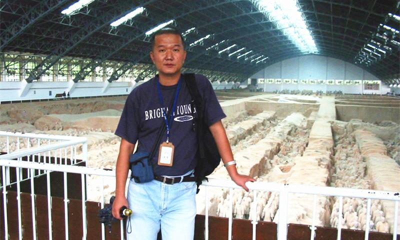 Wei's Visit To Terracotta Warriors and Horses Museum in 2003