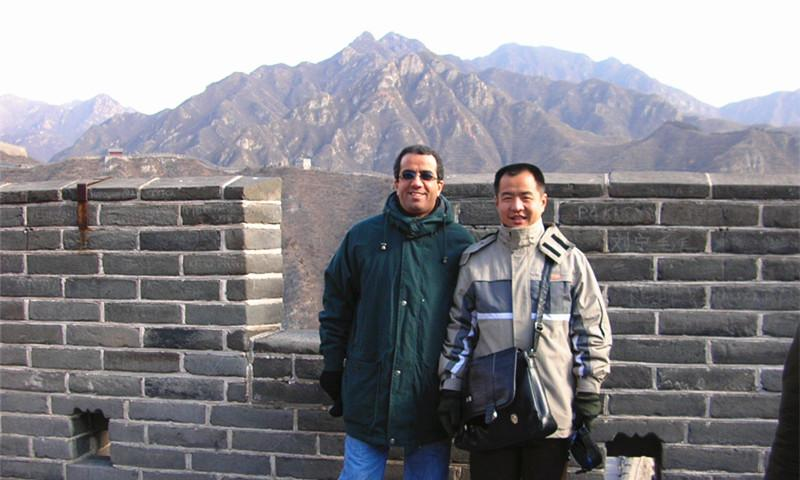 Ricky and Client Hike on Great Wall