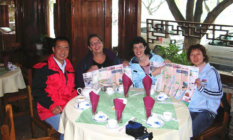 Ricky and Clients Have Meal in Guilin