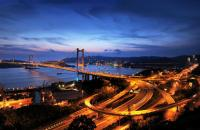 Tsing Ma Bridge Breathtaking Night Scenery