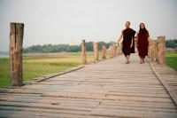 Monks on U Bein Bridge