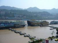 Cruise ships parking at Chaotianmen Dock