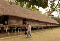 Vietnam Museum of Ethnology long thatched house