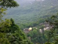 A Overlook of Wannian Temple