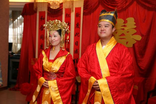 Traditional Bride and Bridegroom Garment