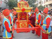 Get On Sedan Chair As Part of A Wedding Ceremony