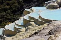 White Water Terraces with Blue Water