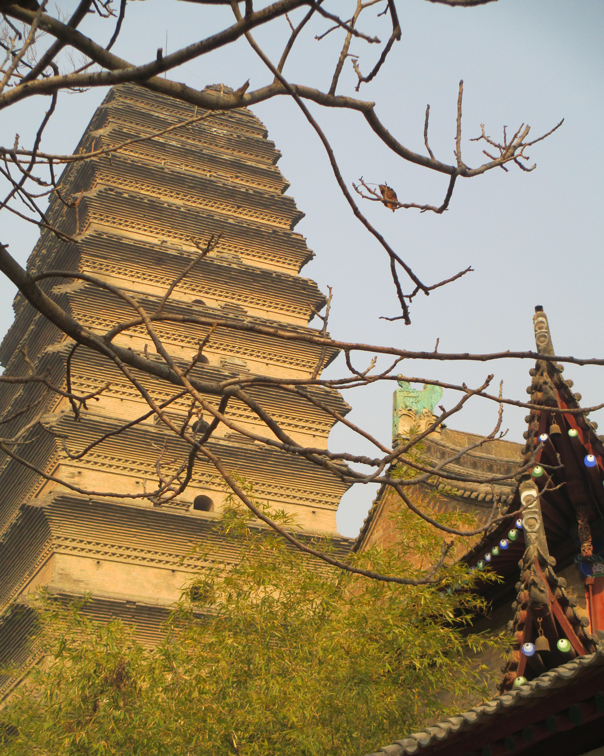 Small Goose Pagoda in Winter