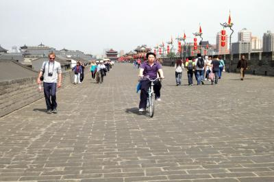 Cycling the Ancient City Wall of Xian