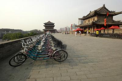Biking on the Xian Old City Wall