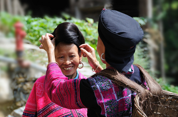 Ximen Red Yao Village Local People