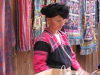 Yao Lady Selling Handicraft