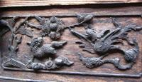 delicate carving in old house