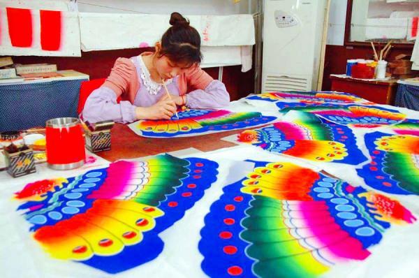 Kite Making at Weifang Yangjiabu Folk Culture Village