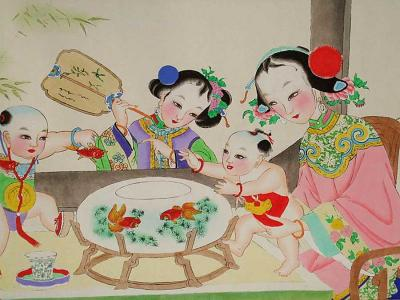 Famed Yangliuqing Painting Picture