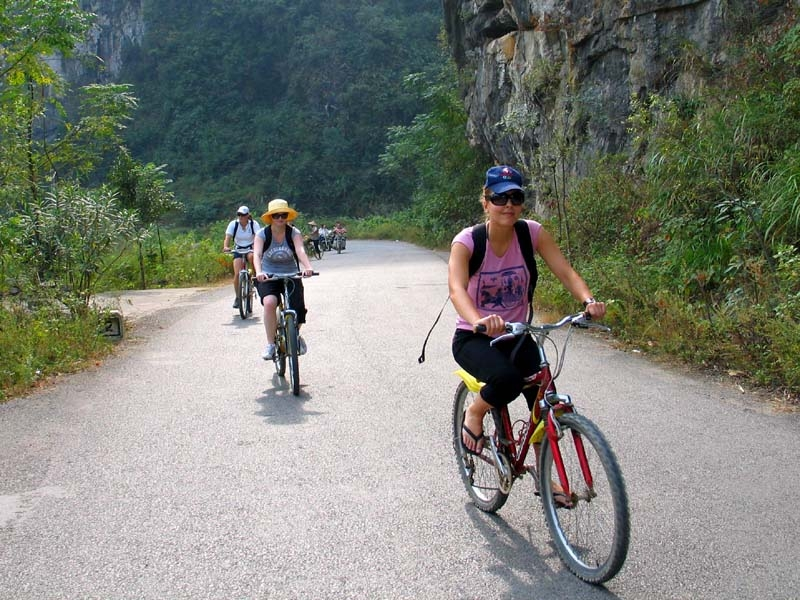 Yangshuo Biking On the Road