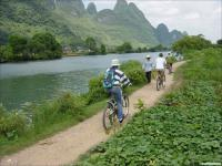 Yangshuo Biking along Yulong River
