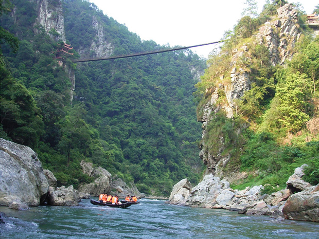 Yanmen Gorge Rafting Family Activity