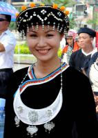 Travel Photos of Yao Minority Smiling Girl