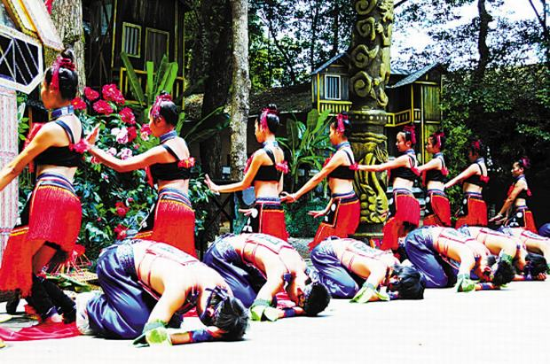 Travel Photos of Yao Minority Elegant Dance