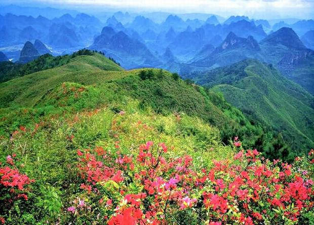 Yao Mountain in Spring