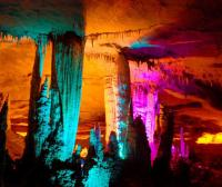 Yellow Dragon Cave Colorful Lights