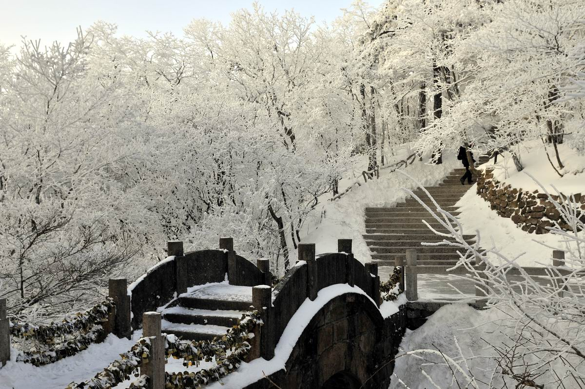 The snow-covered Yellow Mountain China