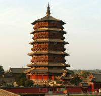 Yingxian Wooden Pagoda Sunset