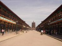 Yingxian Wooden Pagoda nearby Street
