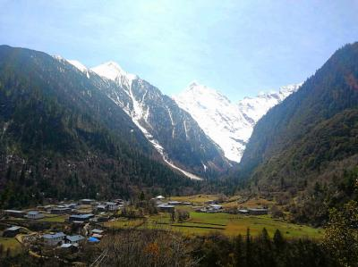 Lower Yubeng Village under Meili Snow Mountain