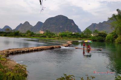 Enjoy Yulong River Bamboo Rafting in Summer