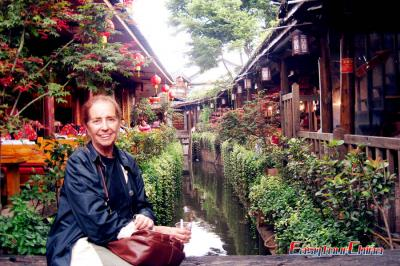 Argentinian Client Visiting Lijiang Old Town in 2011