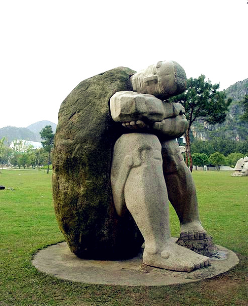 Yuzi paradise sculpture park stone yangshuo