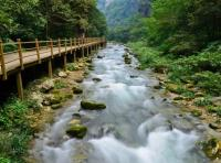 The Running River in Zhangjiajie Grand Canyon