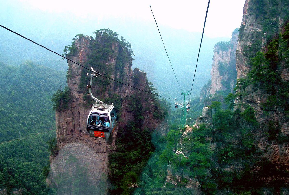 Zhangjiajie National Park Cable Car Pictures Zhangjiajie