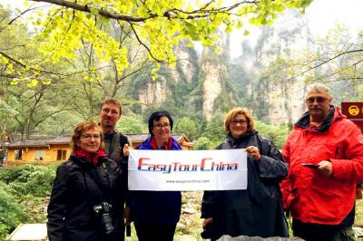Customers Visiting Zhangjiajie National Forest Park in 2016