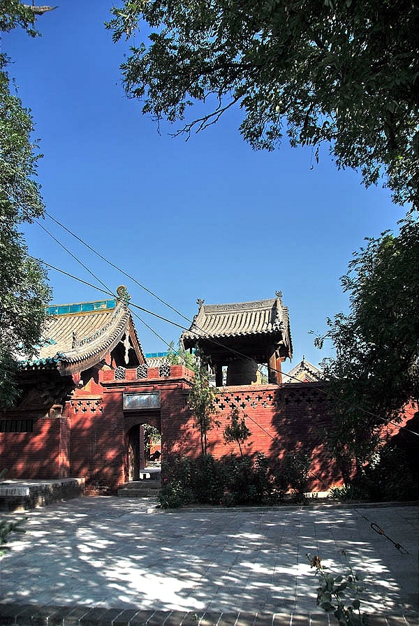 Zhenguo Temple with Blue Sky