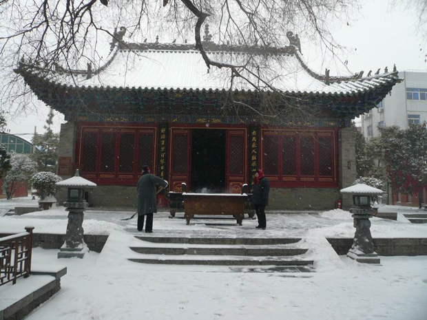 Snow Scenery of Town God's Temple