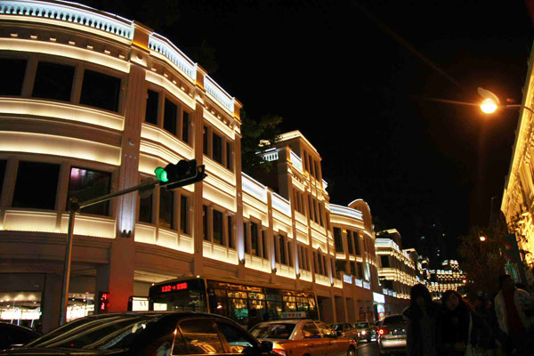 Zhongshan Road Pedestrian Street Night Scenery
