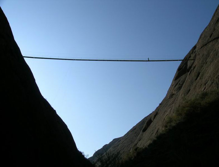 Bridge High above Canyon