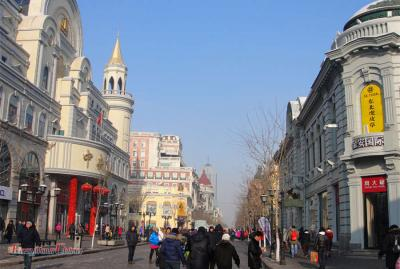 Touring Harbin Pedestrian Central Street