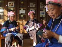 Travel Photos of Zhuang Minority Women Sewing