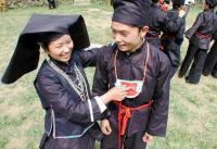 Travel Photos of Zhuang Minority in Black Clothes