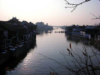 Zhujiajiao Ancient Town River Image